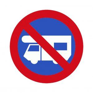 Señal prohibido estacionar