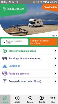 Pantalla campercontact app 2