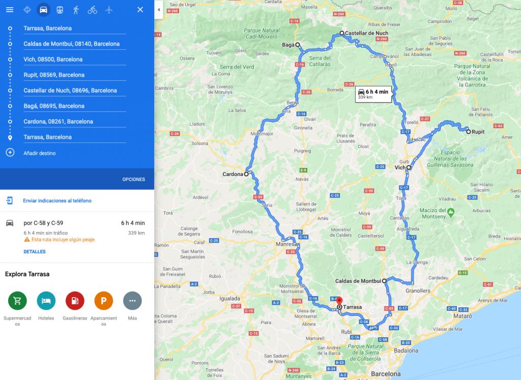 Ruta autocaravana Barcelona